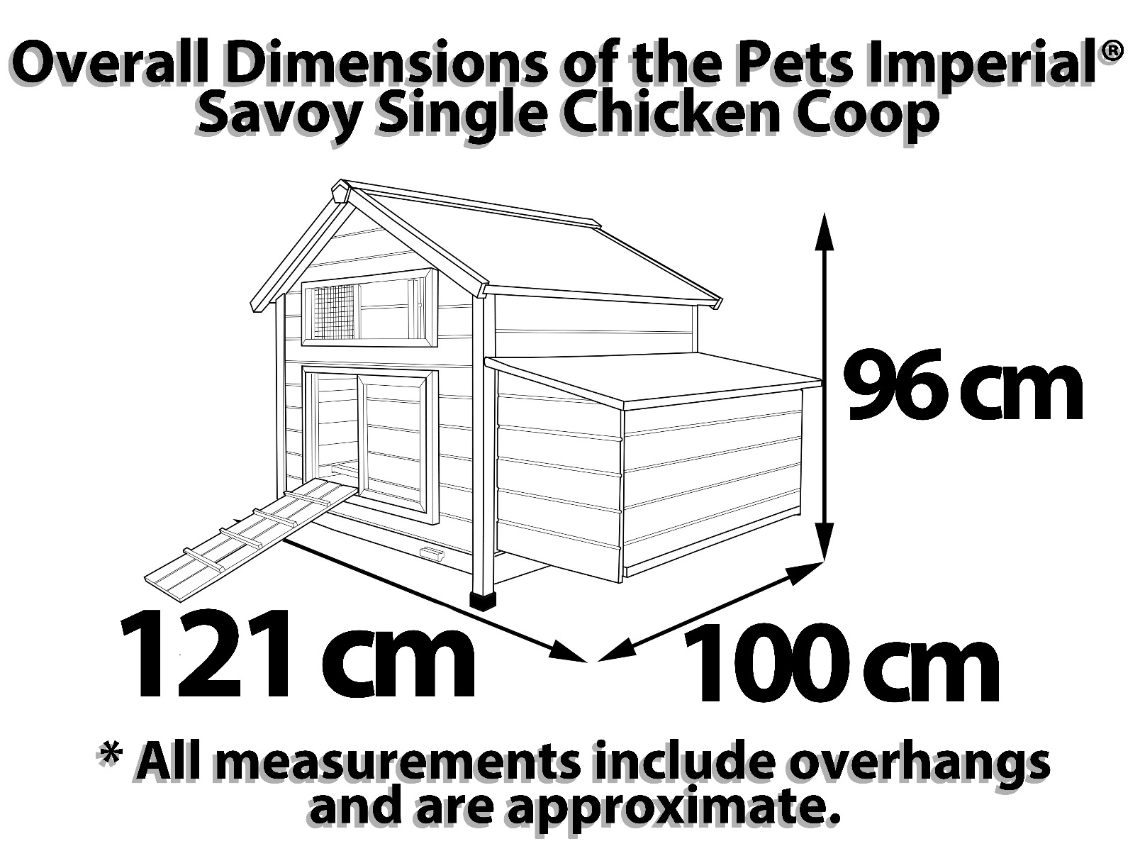 savoy single nest box coop dimensions