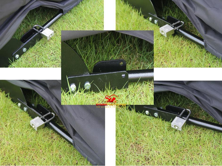 lockable motorcycle cover
