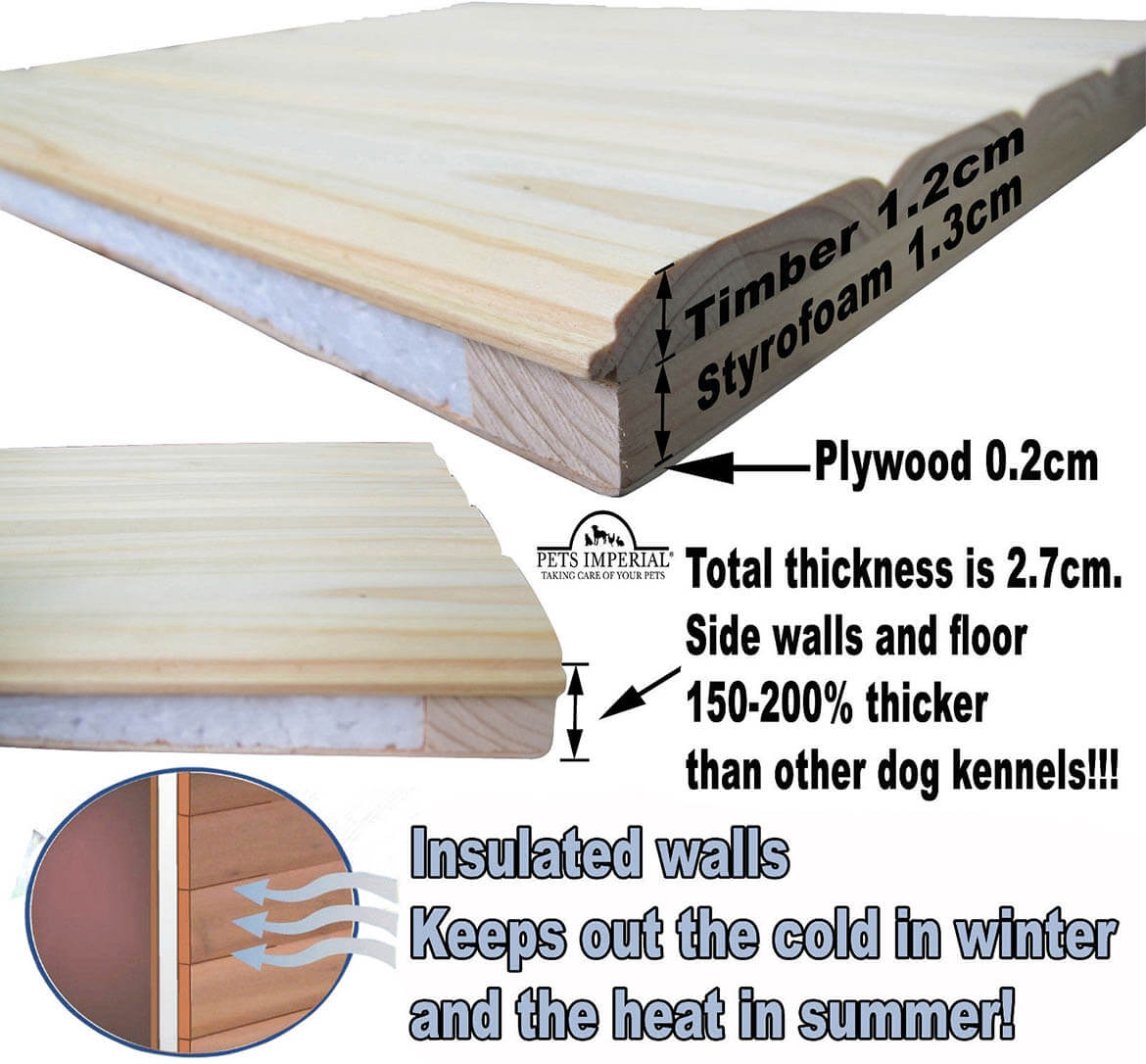 layers of insulation on dog kennel